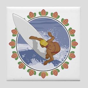 Surf Flower Tile Coaster
