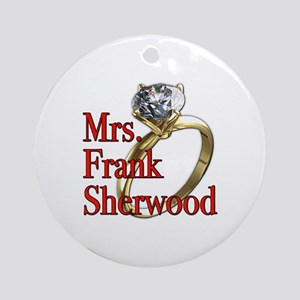 Army Wives Mrs. Frank Sherwood Ornament (Round)