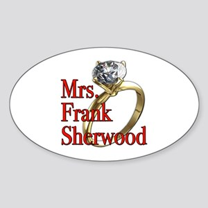 Army Wives Mrs. Frank Sherwood Sticker (Oval)