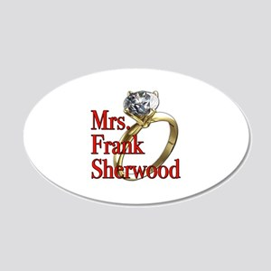 Army Wives Mrs. Frank Sherwood 22x14 Oval Wall Pee