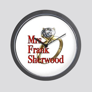 Army Wives Mrs. Frank Sherwood Wall Clock