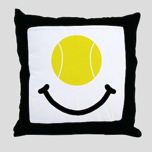 Tennis Smile Throw Pillow