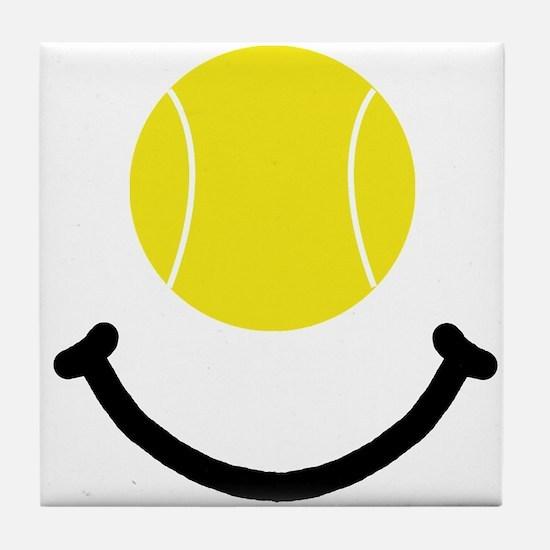 Tennis Smile Tile Coaster