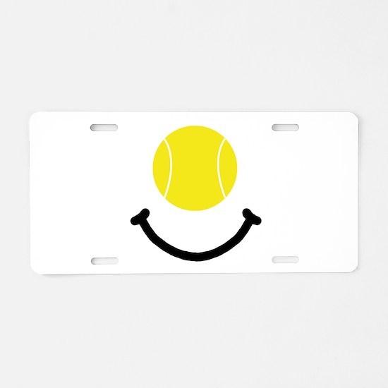 Tennis Smile Aluminum License Plate