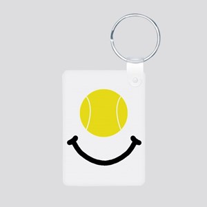 Tennis Smile Aluminum Photo Keychain