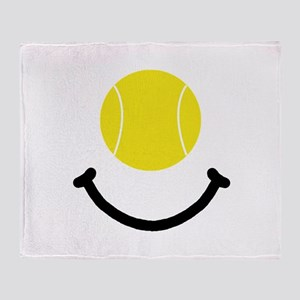 Tennis Smile Throw Blanket