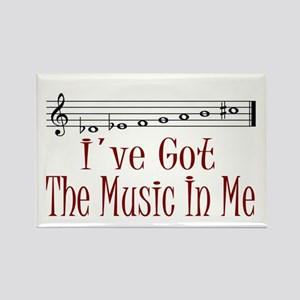 The Music In Me Rectangle Magnet