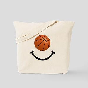 Basketball Smile Tote Bag
