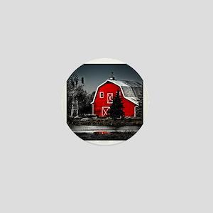 VIBRANT RED BARN Mini Button