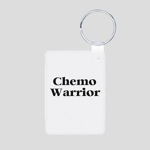 Chemo Warrior Aluminum Photo Keychain