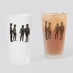 4 Musketeers Clear Bckg. Drinking Glass