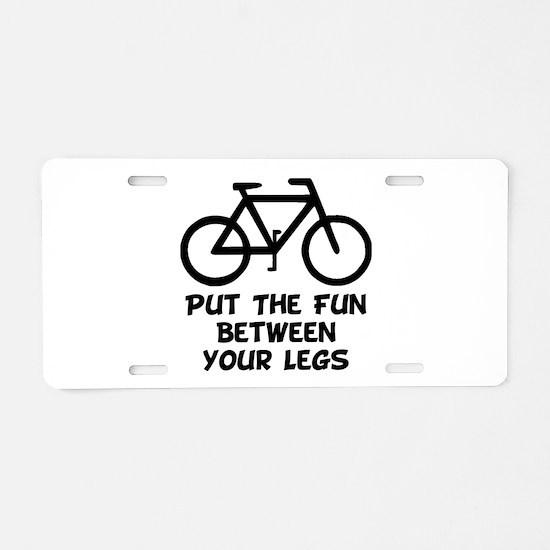 Bike Fun Aluminum License Plate
