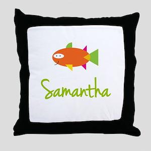 Samantha is a Big Fish Throw Pillow
