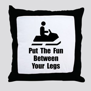 Snowmobile Fun Throw Pillow