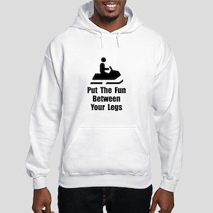 Snowmobile Fun Hooded Sweatshirt