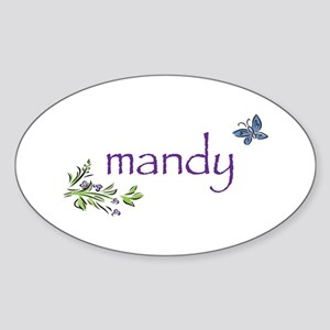 Mandy Oval Sticker
