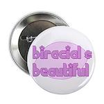 biracial & beautiful Button