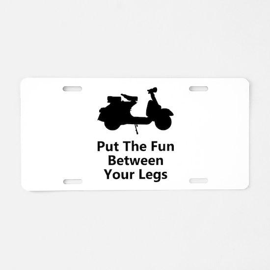 Scooter Fun Aluminum License Plate
