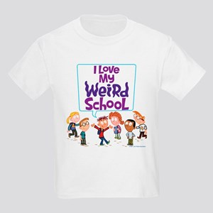 I Love My Weird School! Kids Light T-Shirt