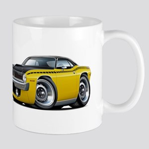 1970 AAR Cuda Yellow-Black Car Mug