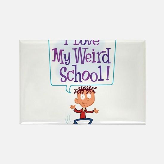 I Love My Weird School! Rectangle Magnet