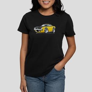 1970 AAR Cuda Yellow Car Women's Dark T-Shirt