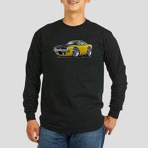 1970 AAR Cuda Yellow Car Long Sleeve Dark T-Shirt