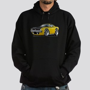 1970 AAR Cuda Yellow Car Hoodie (dark)