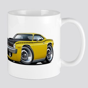 1970 AAR Cuda Yellow Car Mug