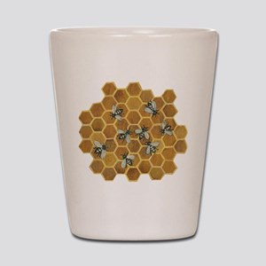 Honey Bees Shot Glass