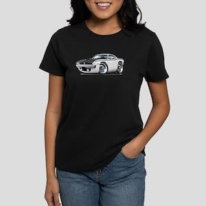 1970 AAR Cuda White Car Women's Dark T-Shirt