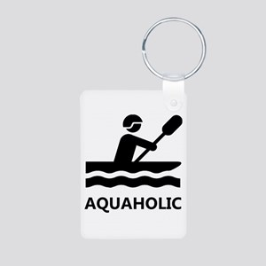Aquaholic Aluminum Photo Keychain