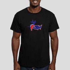 Screwed By An Ass Men's Fitted T-Shirt (dark)