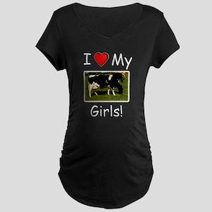 Love My Girls Maternity Dark T-Shirt