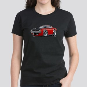 1970 AAR Cuda Red Car Women's Dark T-Shirt