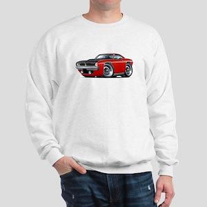 1970 AAR Cuda Red Car Sweatshirt