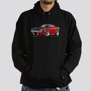 1970 AAR Cuda Red Car Hoodie (dark)