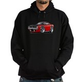 1970 aar cuda red car Dark Hoodies