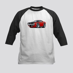1970 AAR Cuda Red Car Kids Baseball Jersey