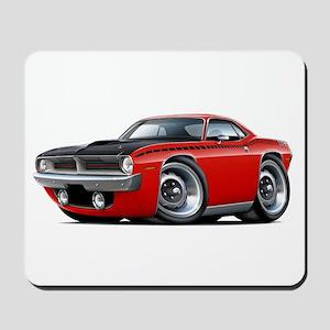 1970 AAR Cuda Red Car Mousepad