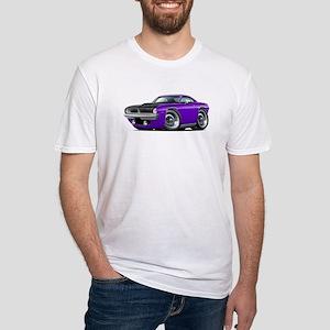 1970 AAR Cuda Purple Car Fitted T-Shirt