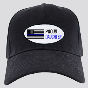 Proud Police Daughter Black Cap with Patch
