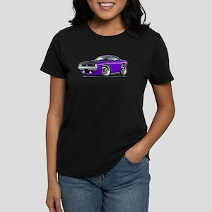 1970 AAR Cuda Purple Car Women's Dark T-Shirt