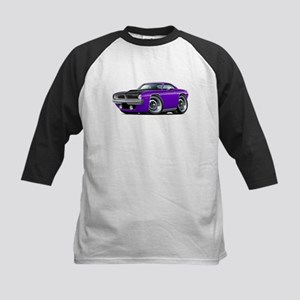 1970 AAR Cuda Purple Car Kids Baseball Jersey