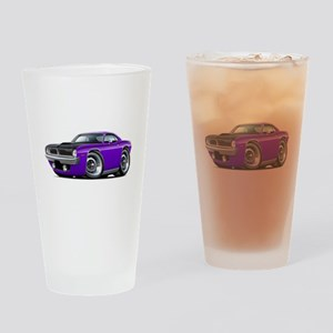 1970 AAR Cuda Purple Car Drinking Glass