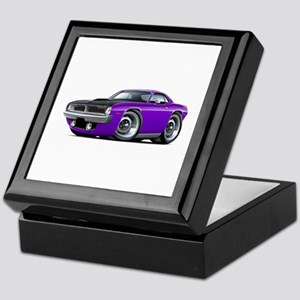 1970 AAR Cuda Purple Car Keepsake Box