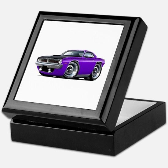 1970 AAR Cuda Purple Car Keepsake Box