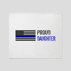Proud Police Daughter Throw Blanket