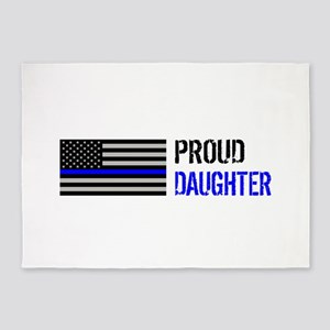 Proud Police Daughter 5'x7'Area Rug
