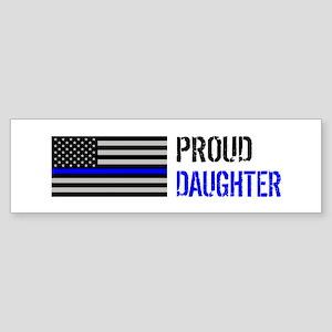 Proud Police Daughter Sticker (Bumper)
